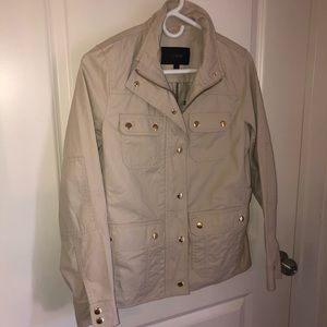 NWOT J.Crew Downtown Field Jacket in Tan